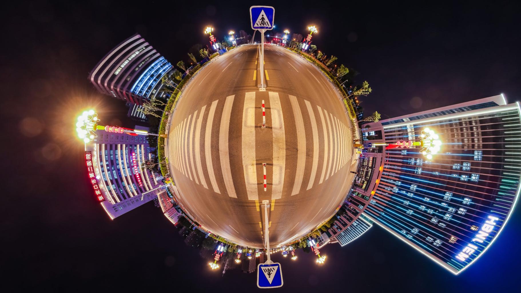 张家口纬二路一角VR全景