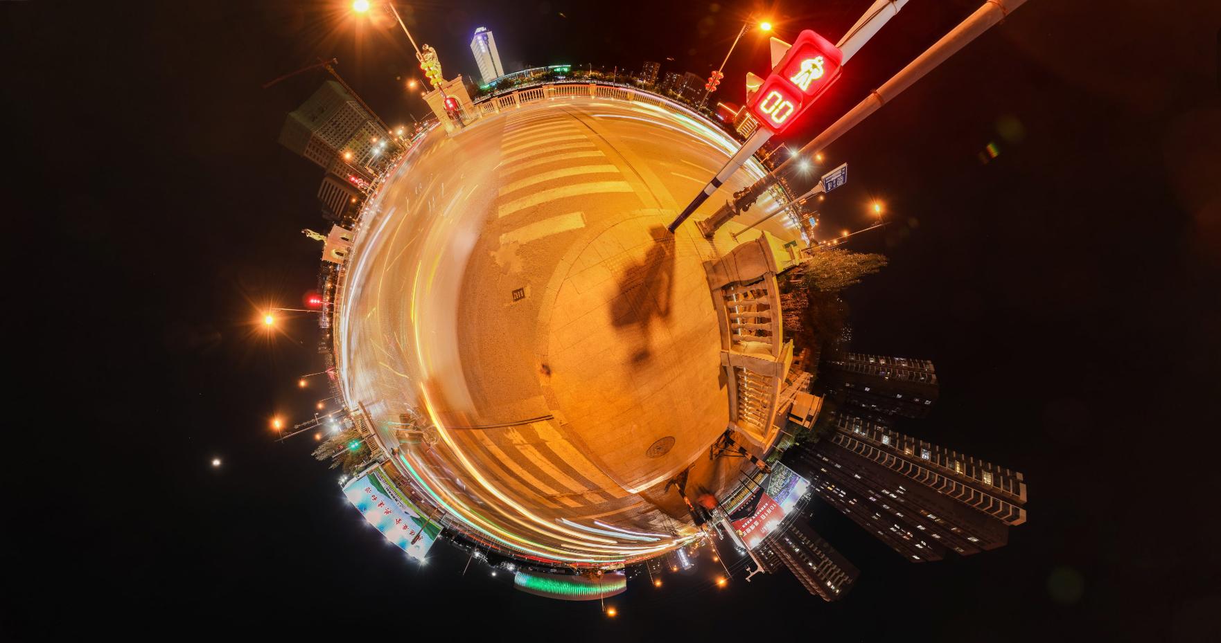 张家口纬一桥VR全景(夜)